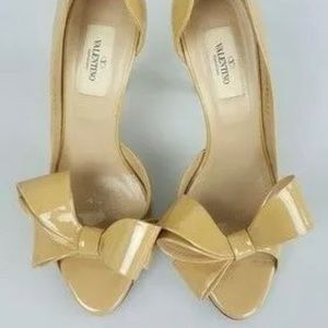 Nude Valentino bow pumps size 37